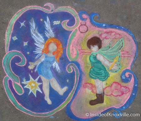 Krista Murphy, Taylor Ford, Chalk Walk, Knoxville, April 2014