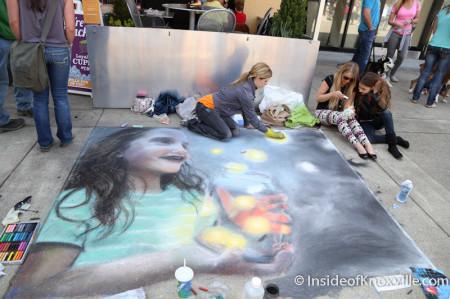 Kristen Kendall, Chalk Walk, Knoxville, April 2014