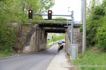 One Lane Underpass on Blount Avenue, Knoxville, April 2014