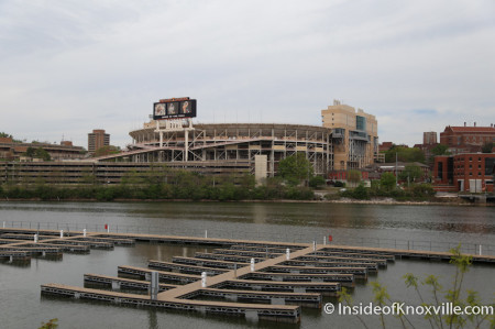 View of Neyland Stadium from Cityview Condos, Knoxville, April 2014
