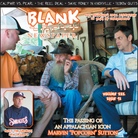 Popcorn Sutton Cover of Blank Newspaper, April 2009