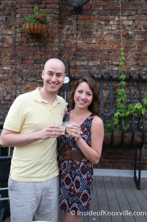 Audrey Dunham and Kienan Gold get engaged, Blankfest, Preservation Pub Moonshine Roof, Knoxville, May 2014