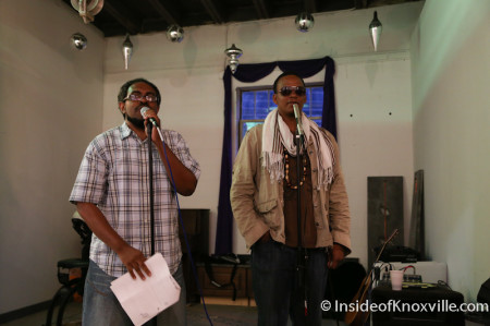 Black Atticus and Carlton Starr, Spoken Word Poetry, Paulk and Company, Knoxville, May 2014