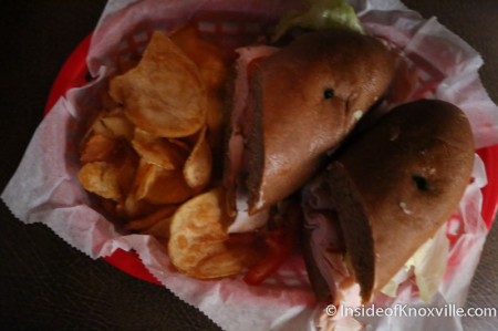 Turkey Sandwich, Clancy's Tavern on Opening Day, Knoxville, May 2014