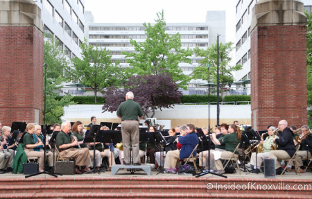 Community Band, Market Square Stage, Knoxville, May 2014