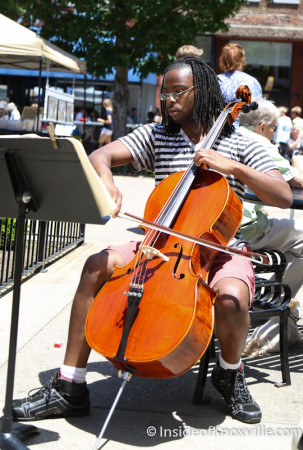 Busker in the City, Knoxville, May 2014