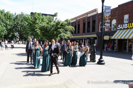 A Wedding on Market Square meets GMO Demonstration, Knoxville, May 2014
