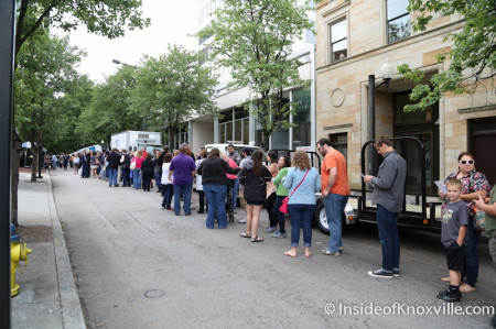 Line for Tupelo Honey Biscuit, International Biscuit Festival, Knoxville, May 2014