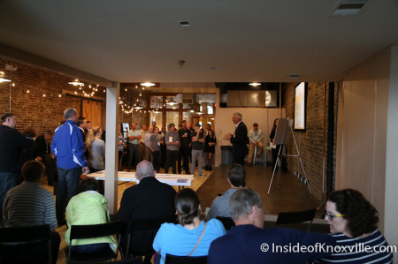 Remedy Coffee, Meeting regarding Jackson Avenue Streetscape Plans, Knoxville, May 2014
