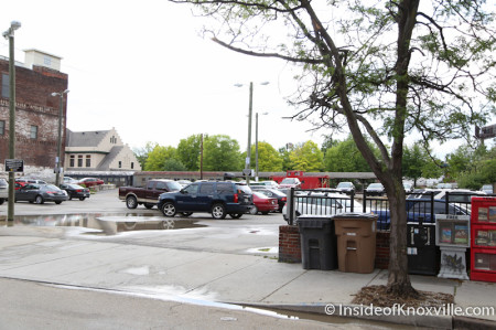 Parking Lot on the 100 block of West Jackson, Knoxville, May 2014