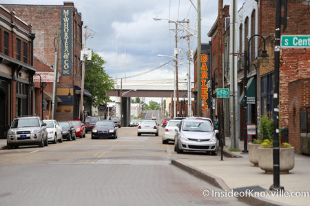 Jackson Avenue facing east from Central, Knoxville, May 2014