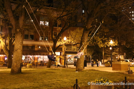 A Swing on Market Square, Knoxville in the Spring, 2014
