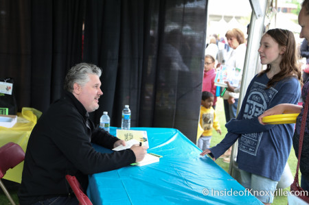 MIchael Buckley, Children's Festival of Reading, Knoxville, May 2014
