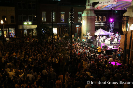 Moon Taxi, Market Square Stage, Blankfest, Knoxville, May 2014
