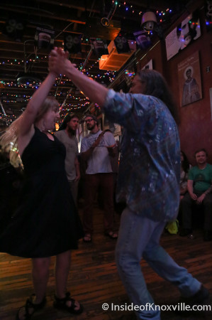 Sabrina and friend dancing to Dixie Ghost, Blank Fest, Preservation Pub, Knoxville, May 2014