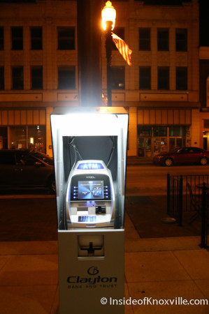 ATM outside the Phoenix Building, Knoxville, June 2014