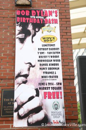 Bob Dylan Bash, Market Square, Knoxville, June 2014