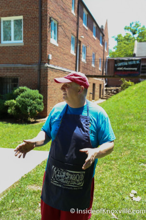Brad at Kickstand, 1323 North Broadway, Knoxville, June 2014
