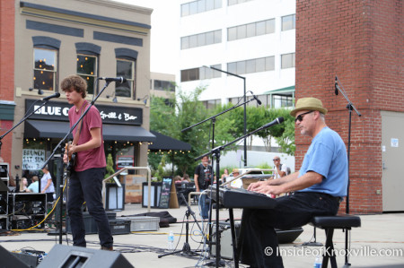 Luke and Jeff Jakowski, Bob Dylan Bash, Market Square, Knoxville, June 2014