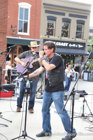 MIchael Crawley with J.P. Reddick, Bob Dylan Bash, Market Square