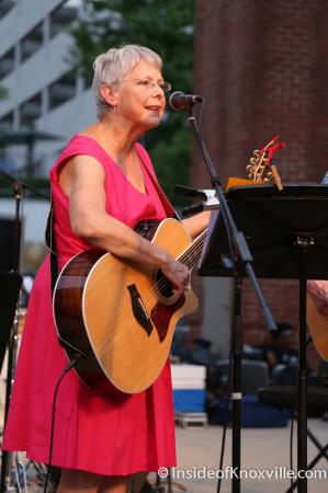 Nancy Brennan Strange with Mike Craver, Bob Dylan Bash, Market Square, Knoxville, June 2014