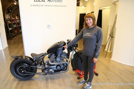 Samantha Hatcher, Local Motors, 11 Market Square, Knoxville, June 2014