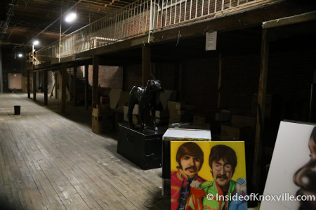 Storage inside the Phoenix Building includes Art Dog, Knoxville, June 2014