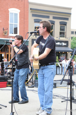 Van Eaton with Michael Crawley, Bob Dylan Bash, Market Square, Knoxville, June 2014