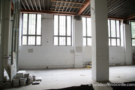 First Floor Space at the Holston,  531 South Gay Street, Knoxville, July 2014