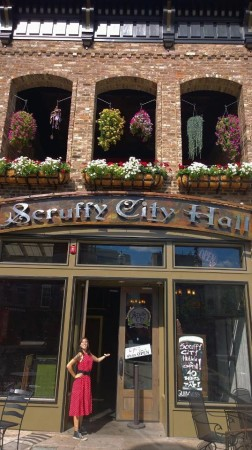 Jayme Hogan invites you into Scruffy City Hall, Market Square, Knoxville, July 2014
