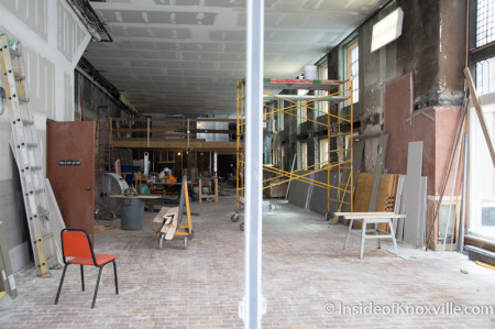 Retail Space at Tailor Lofts, 430 South Gay Street, Knoxville, July 2014