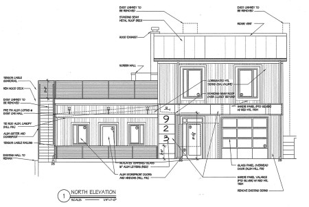 Plans for 623 North Central Street, Knoxville, July 2014