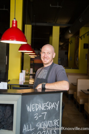 Beau McKee, Manager, Not Watson's, Market Square, Knoxville, August 2014