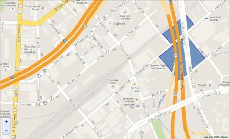 East Jackson/Depot Map1