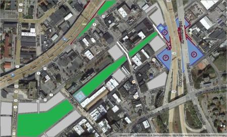 East Jackson/Depot Satellite View 1