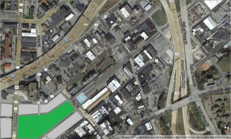 East Jackson/Depot Satellite View Before