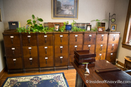 Period Filing Cabinets, Fifth Floor of the Mechanics' Bank and Trust Company Building, Knoxville, August 2014
