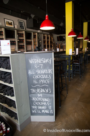 Weekly Specials at Not Watson's, Market Square, Knoxville, August 2014