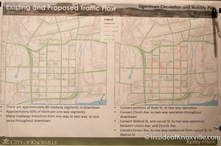 Proposed Changes for Downtown Streets, Knoxville, August 2014