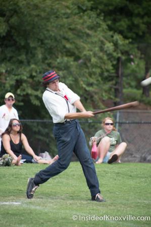 Vintage Baseball, World's Fair Park, Knoxville, August 2014