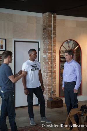 Andy Jones, Marcus Hall and David Brooke, Marc Nelson Denim, 700 East Depot Ave., Knoxville, September 2014