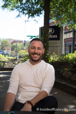 Brad Peer, Owner, Flow a Brew Parlor, 706 Main Street, Knoxville, September 2014