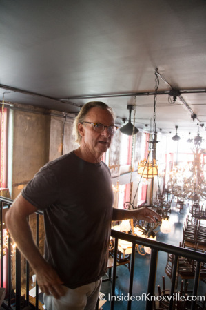 Charles Morgan III, Co-Owner, Five Bar Restaurant, 530 South Gay Street, Knoxville, September 2014