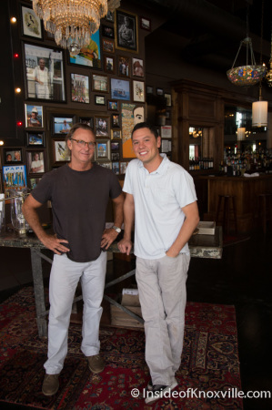 Charles Morgan III and Cris Eddings, Co-Owners, Five Bar Restaurant, 530 South Gay Street, Knoxville, September 2014