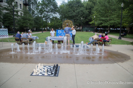 Chess in Krutch Park, Knoxville, September 2014