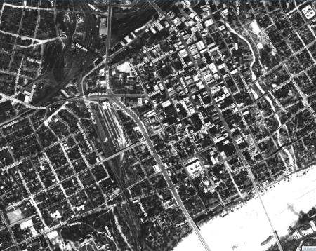 Aerial Map of Knoxville, 1935