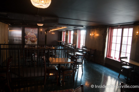 Five Bar Restaurant Mezzanine, 430 South Gay Street, Knoxville, September 2014