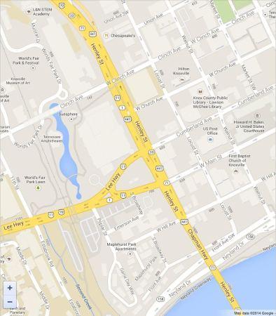Map of Henley Street