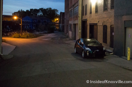 Hot Prius in an Urban Setting, Knoxville, August 2014