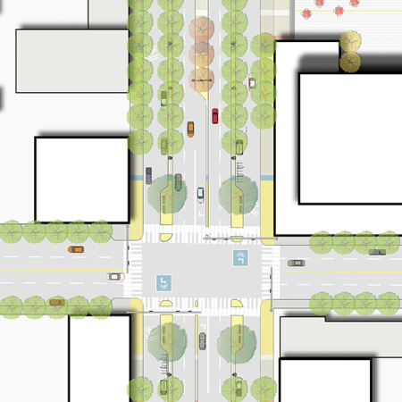 Multiway Boulevard Intersection